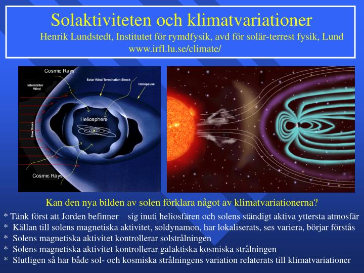 Solaktiviteten och klimatvariationer