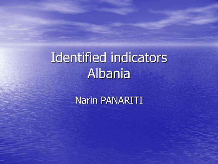 Identified indicators albania