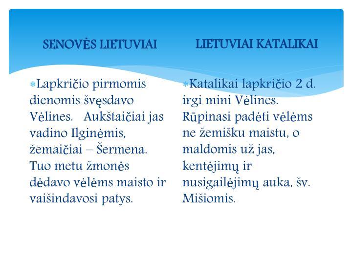 SENOVĖS LIETUVIAI