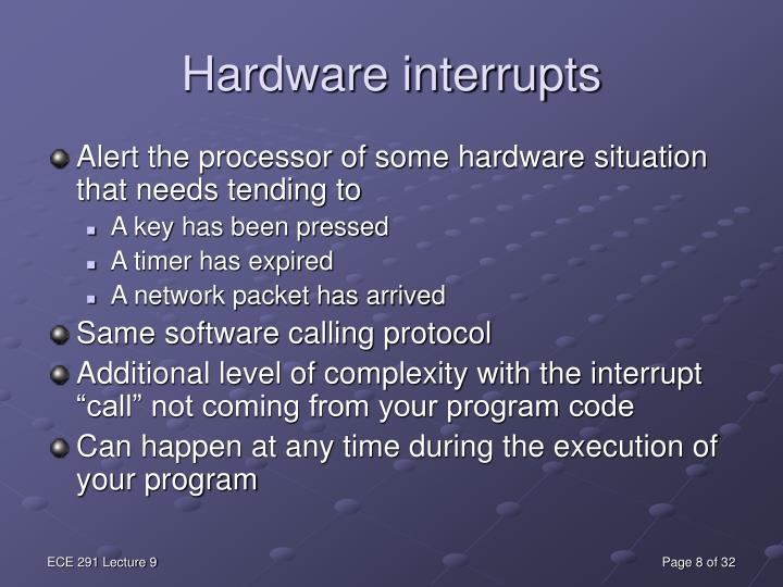 Hardware interrupts