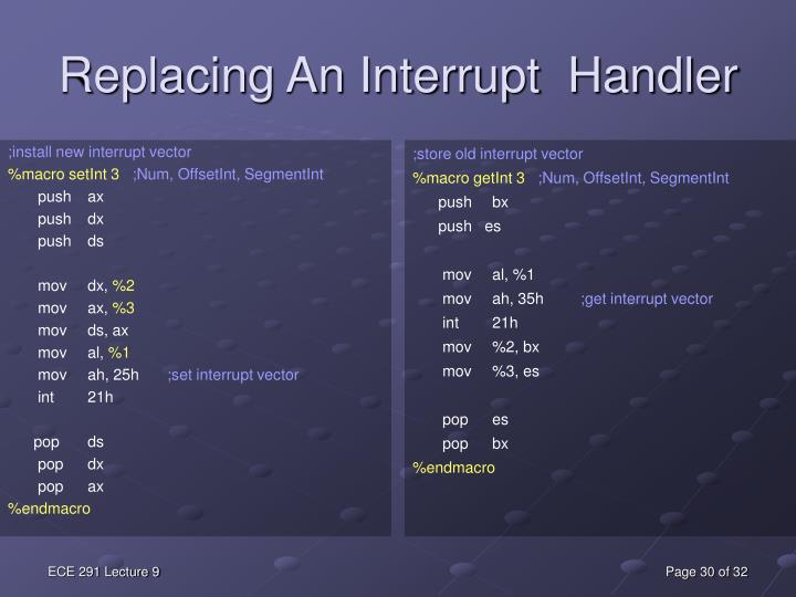 ;install new interrupt vector
