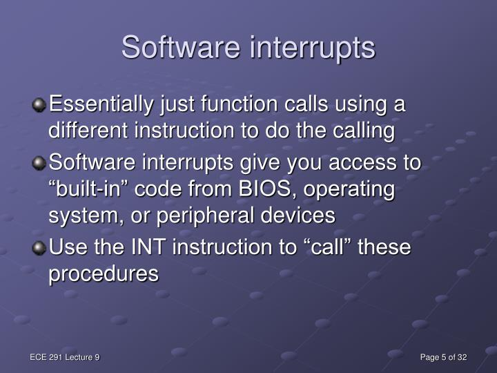 Software interrupts
