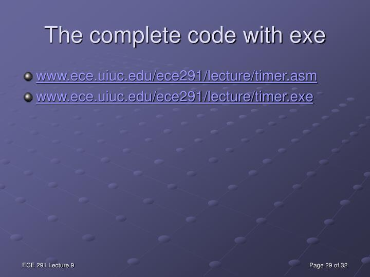 The complete code with exe