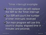 timer interrupt example