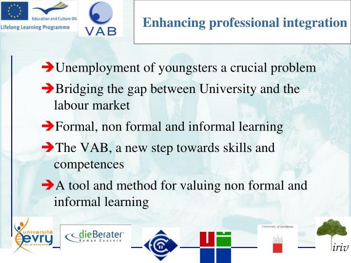 Enhancing professional integration