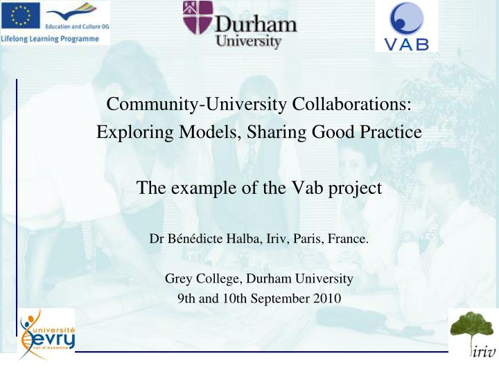 Community-University Collaborations: