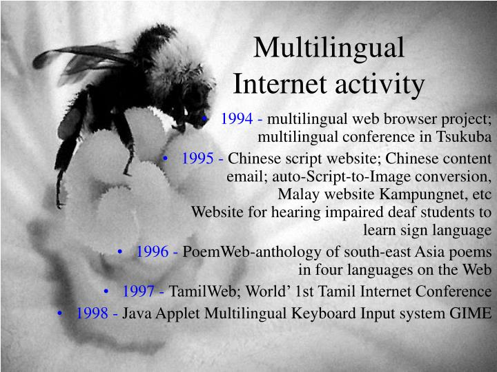 Multilingual Internet activity