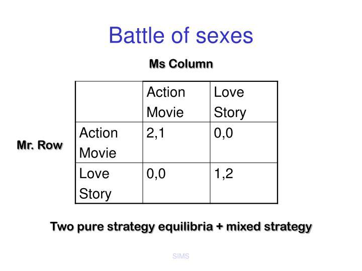 Battle of sexes