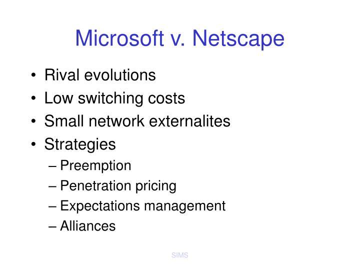 Microsoft v. Netscape