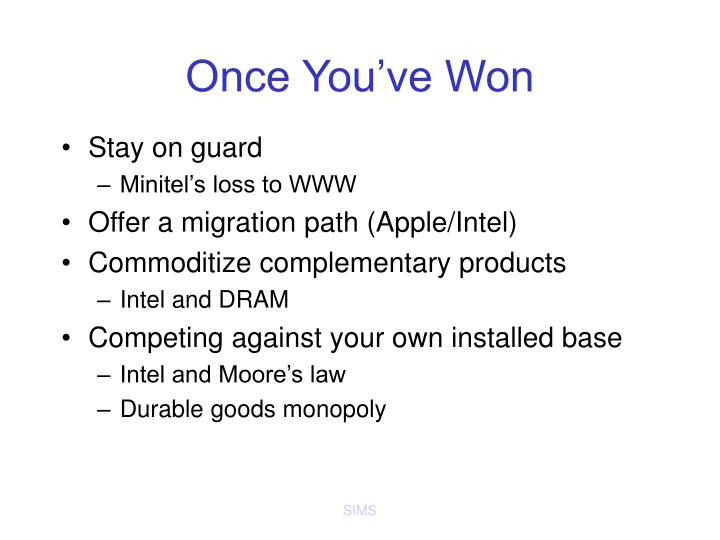 Once You've Won