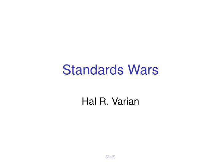 standards wars