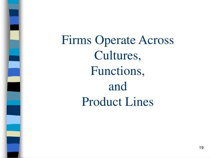 Firms Operate Across