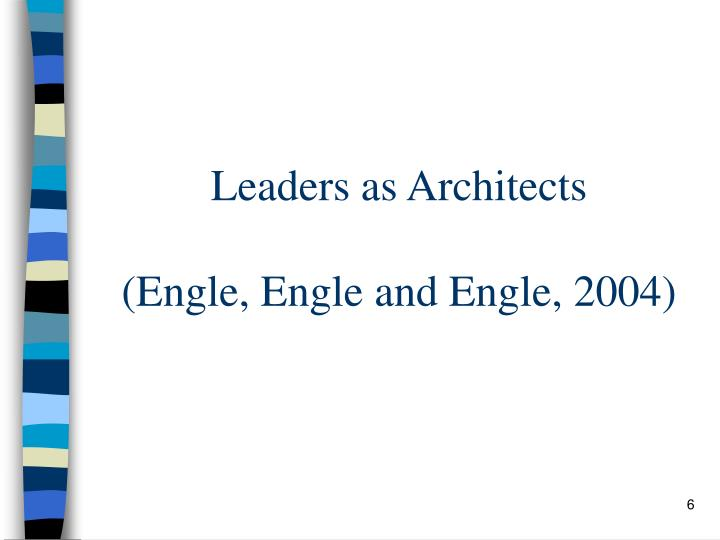 Leaders as Architects