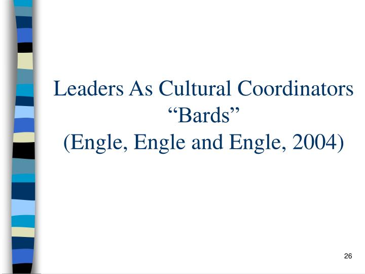 Leaders As Cultural Coordinators