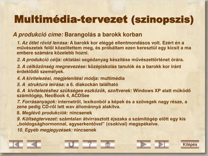 Multimédia-tervezet