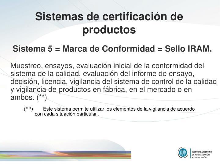 Sistemas de certificación de productos