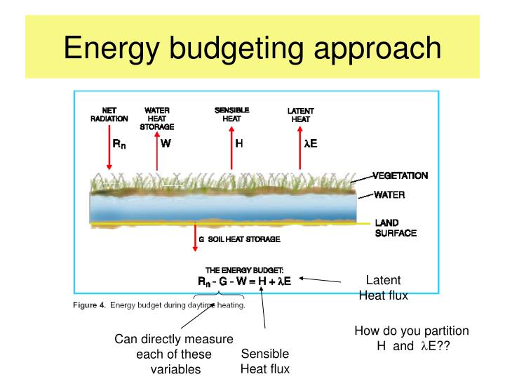 Energy budgeting approach