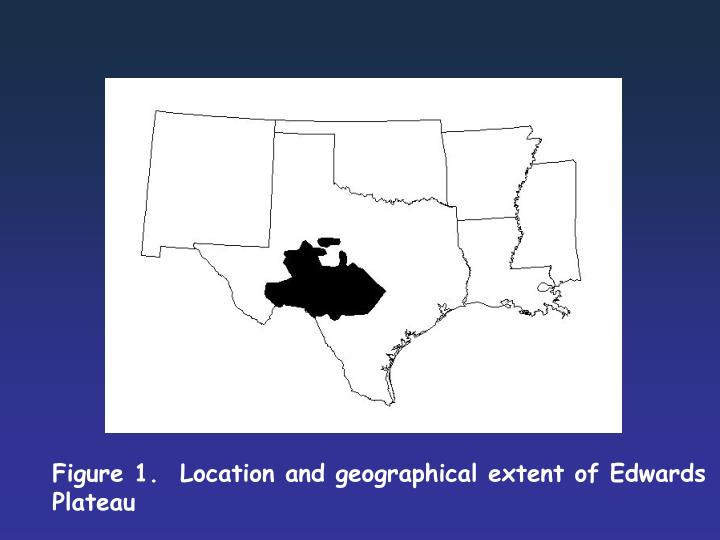 Figure 1.  Location and geographical extent of Edwards Plateau