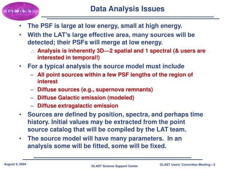 Data Analysis Issues