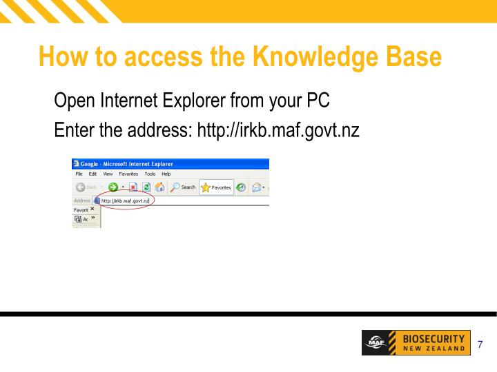 How to access the Knowledge Base