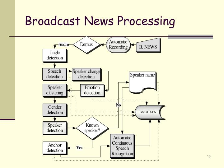 Broadcast News Processing