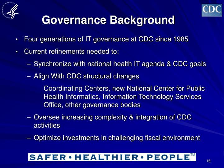 Governance Background