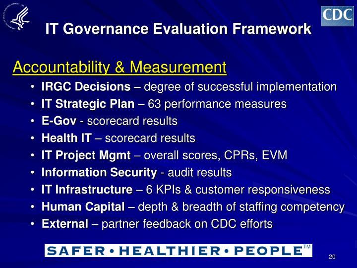 IT Governance Evaluation Framework