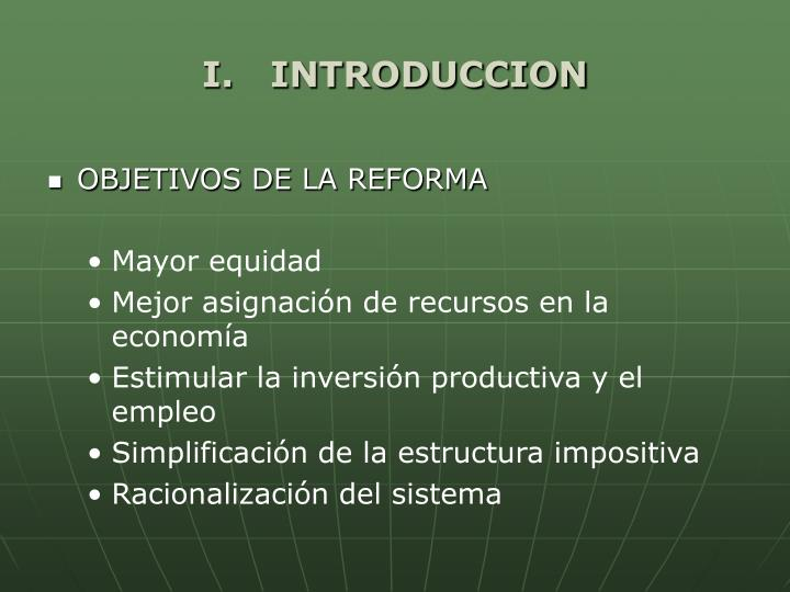 I.   INTRODUCCION