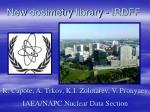 new dosimetry library irdff