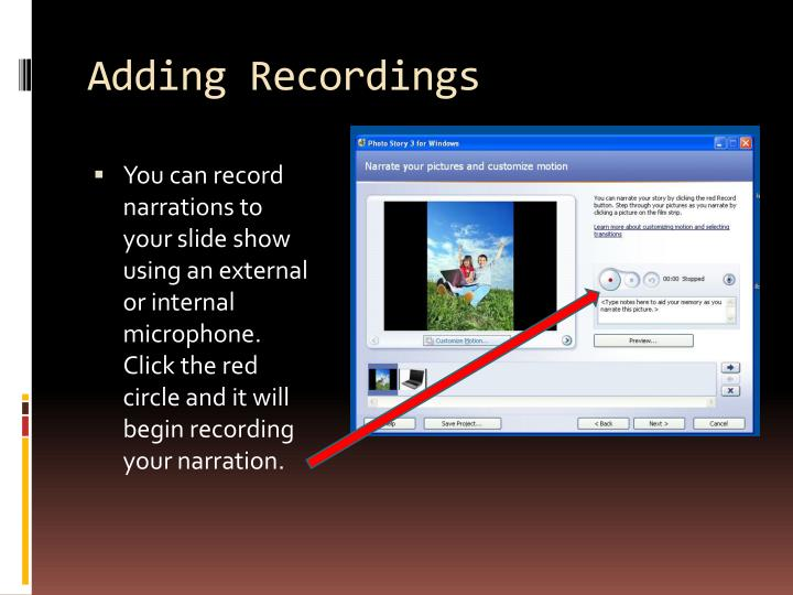 Adding Recordings