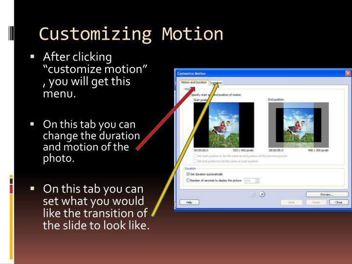 Customizing Motion