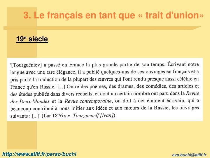 3. Le français en tant que