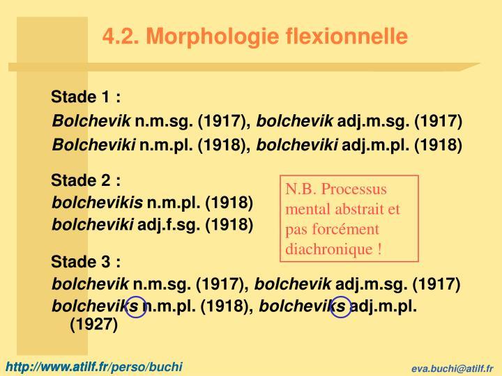 4.2. Morphologie flexionnelle