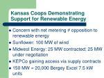 kansas coops demonstrating support for renewable energy