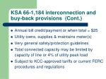 ksa 66 1 184 interconnection and buy back provisions cont