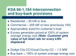 ksa 66 1 184 interconnection and buy back provisions