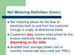 net metering definition cont