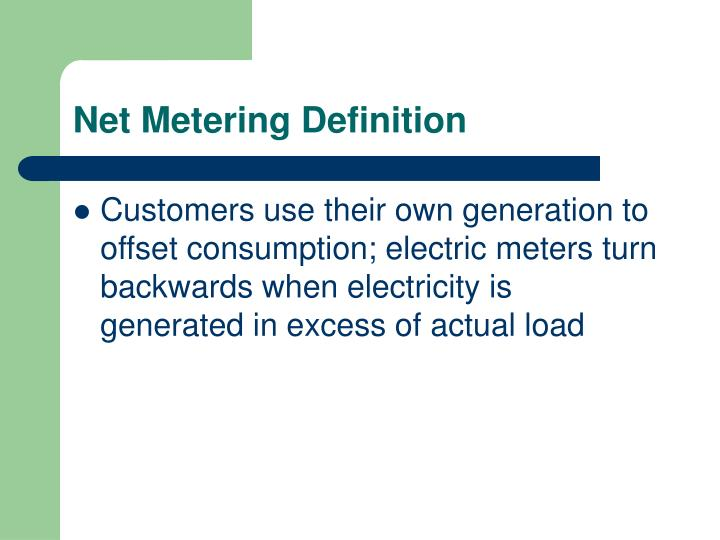 Net Metering Definition