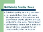 net metering subsidy cont
