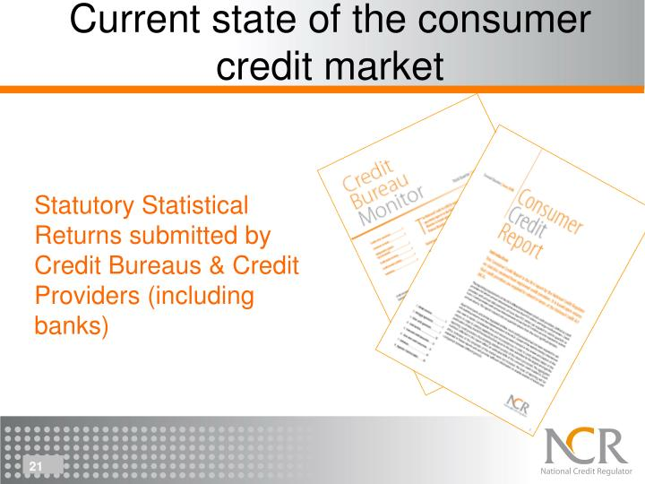 Current state of the consumer credit market