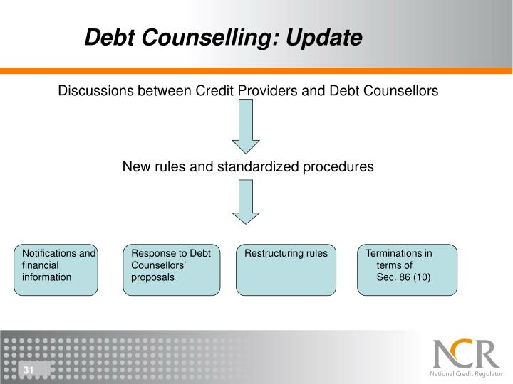 Debt Counselling: Update