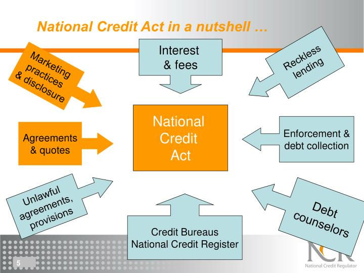 National Credit Act in a nutshell …