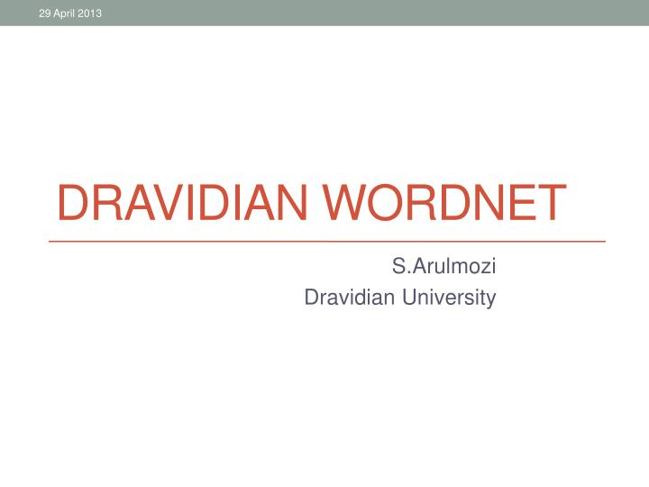 Dravidian wordnet