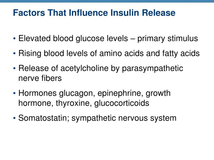 Factors That Influence Insulin Release