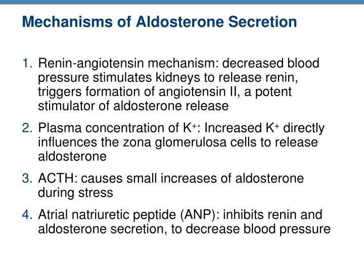 Mechanisms of Aldosterone Secretion