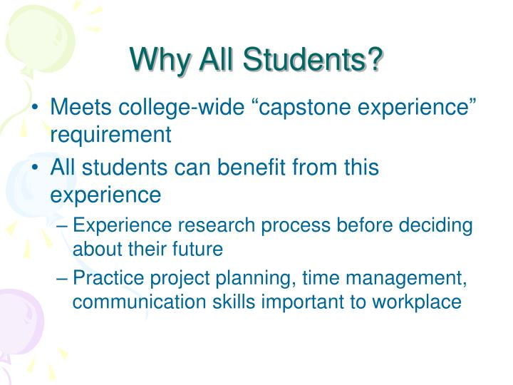 Why All Students?