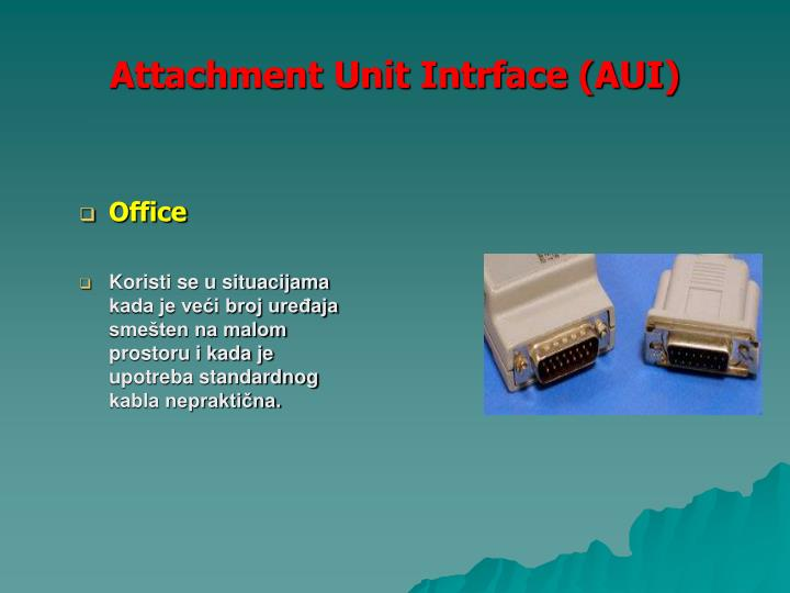 Attachment Unit Intrface (AUI)