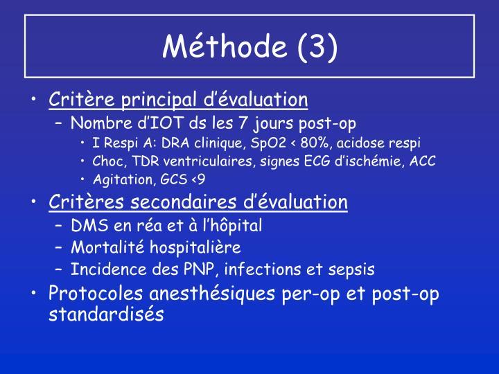Méthode (3)