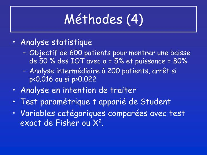 Méthodes (4)