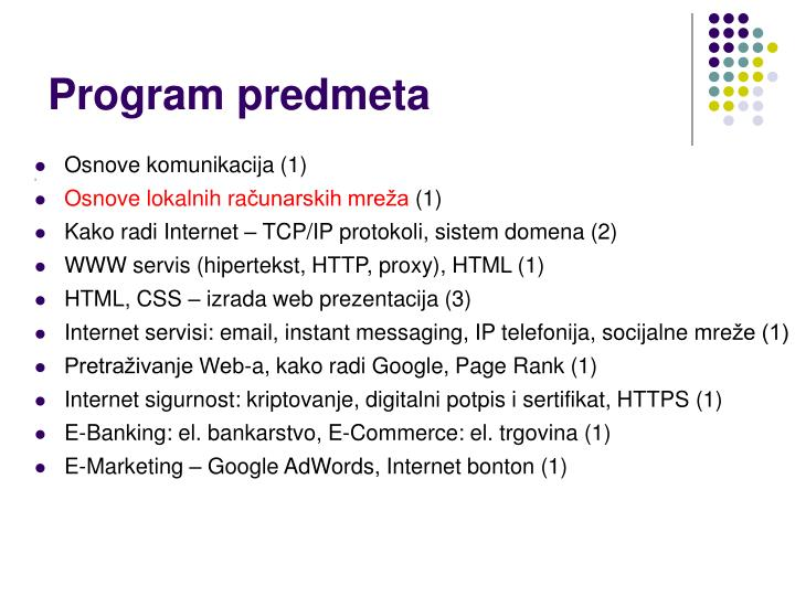 Program predmeta
